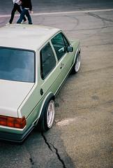 Tobi's MK1 4 (SpanishEnglish) Tags: green film vw volkswagen fuji pentax euro low newengland 20 rs bbs motorsport mk1