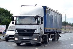Stobart T1414 YP60 LHF A1058 Wallsend 6/8/14 (CraigPatrick24) Tags: road truck mercedes cab transport group tesco lorry mercedesbenz delivery vehicle eddie trailer logistics wallsend axor stobart curtainsider a1058 t1414 yp60lhf