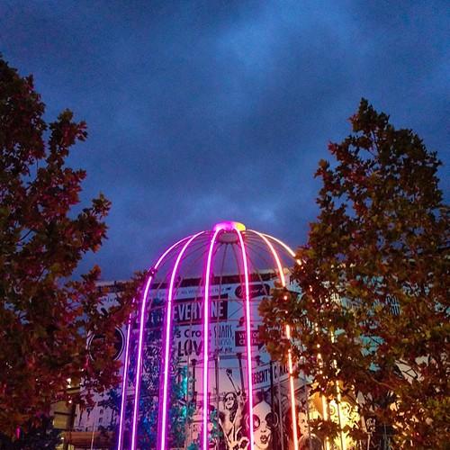 All lit up like a #neon #birdcage #aphotoangel #skyatnight #photography #art #installation