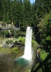 Brandywine Falls (Ruth and Dave) Tags: trees green waterfall bc basin geology volcanic basalt brandywinefallsprovincialpark