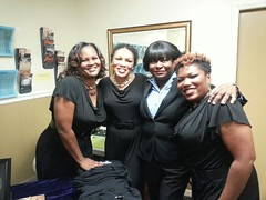 Annette Sanders with the ladies.