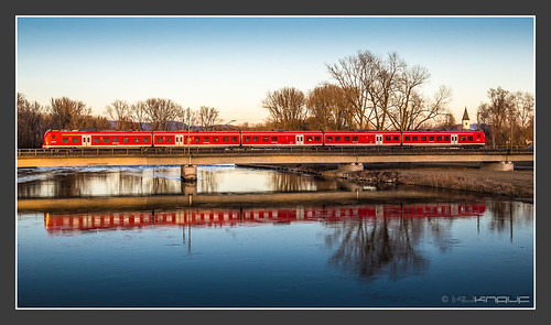 440 201 auf der Isarbrücke Plattling, 14. Feb 2014