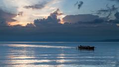 Evening Boat Club (Lance Sagar) Tags: sunset lake france water club canon switzerland evening boat geneva 7d rowing