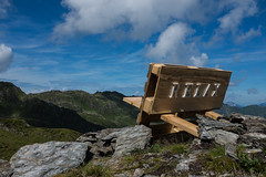 RELAX (prozla) Tags: mountain alps berg bench relax austria tirol sterreich break fuji view cloudy hiking bank berge alpen pause aussicht fujinon wandern x100s