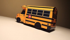 (jcarwil) Tags: school bus art paper model 1987 craft hobby chevy 80s build 1980s 87 papercraft 2014 g30 jcarwil