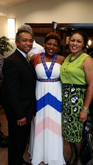 Charles Geter (Crimson Flow Records) with Makayla and Bettye
