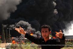 #GazaUnderAttack (#GazaUnderAttack) Tags: tower television flames lies strike foreign damaged neighbours destroyed israeli fuel journalist pse rubble gazastrip tanks gaza engulf aqsa gazacity palestinianterritory shorouk
