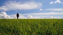 Beyond Horizon (Kuba Abramowicz) Tags: uk blue sky people cloud green grass lines skyline clouds walking nikon walks cloudy britain walk horizon great line trail valley british nikkor tolkien divide hurst ribble d610 2470 horizone greenness lpending lpwonder