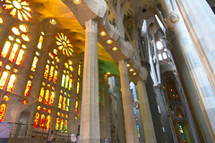 Sagrada Familia. Barcelona Spain (agma06) Tags: barcelona color canon spain basilica stainedglass gaudi 7d sagradafamilia contruction pictureoftheday photooftheday colums antonigaudi
