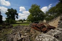 Oradour Sur glane # 4 ( Explore 04-08-2014 ) (jo.misere) Tags: monument clouds atmosphere frankrijk alpha 2014 stenen emotie a77sony