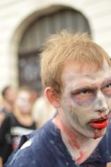 I am dying here.. (Gveronis) Tags: man dead march blood prague zombie walk praha zombiewalk
