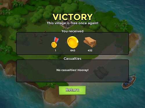 Boom Beach Level Completed: screenshots, UI