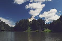 Trakoan Castle (Mario_J) Tags: old sky sun lake green castle nature clouds forest nikon day hill croatia sunny zagorje trakoscan trakoan