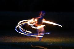Hoops of Fire (paultnature) Tags: nightphotography canon fire dance firedancing 5d 70200lis