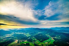 Up, up and away (modesrodriguez) Tags: sky hot clouds landscape volcano spain air balloon paisaje catalonia catalua garrotxa volcan santamargarita