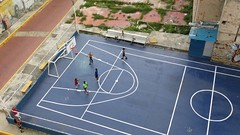 Sportveldje bij het hostel