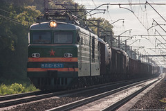 VL10-637 (alexcashman801) Tags: sun 20d train canon eos evening day russia sunny locomotive novosibirsk freight ussr transsib rzd canonef100300mmf4556usm vl10 vl10637