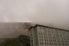 Barrage de la Grande Dixense hotel (gerdvanmechelen) Tags: mountains monochrome clouds de hotel switzerland grande view suisse dam barrage gerd vanmechelen dixense