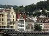 Lucerne Riverfront Buildings (Atelier Teee) Tags: switzerland luzern lucerne riverreuss atelierteee terencefaircloth
