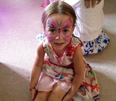 Anna in facepaint (goforchris) Tags: parties catriona birthdayparty seven birthdays entertainers