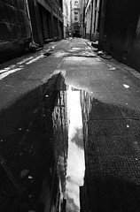 Reach for the sky (synkuk) Tags: street people urban bw canon reflections scotland photo glasgow 10mm samyang 700d