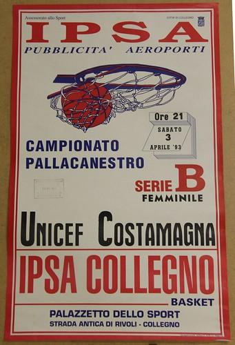Manifesto Collegno Basket vs. Costamagna - Serie B Femminile
