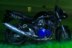 Monster Energy Bandit 1200 N (MAGIC PASSION * PHOTOGRAPHY *) Tags: 2 lightpainting max monster t shark stencil energy long exposure time sony performance bad n front system ii cult pro 1200 suzuki alpha bandit ducati 250 slt 57 exhaust streetfighter 916 gsf kult langzeitbelichtung giga a57 cullmann hähnel nanomax gv75a stencilcentral