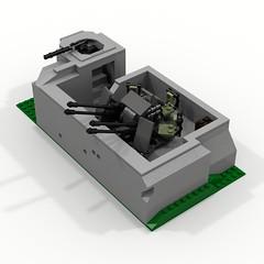 BRIX WW2 Bunker AA V1.0 a (IK) Tags: lego bunker german ww2 aa flak ldd