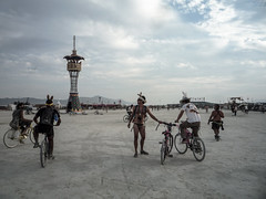 Playa Fun (carologica) Tags: friends playing man art bike festival fun friend artist play desert arts festivals bikes playa burning artists biker around dust burner fooling bikers burners