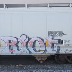 RIOT (TRUE 2 DEATH) Tags: railroad train graffiti riot tag graf trains railcar spraypaint boxcar railways hopper railfan freight 663 freighttrain rollingstock batle 663k benching freighttraingraffiti batle663 ripbatle ripchance