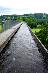 Looking back over Pontcysyllte Aqueduct