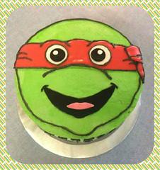 Teenage Mutant Ninja Turtle Cake, by Kari, Battle Creek Michigan, www.birthdaycakes4free.com