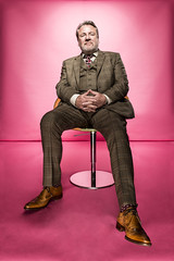 Ray Winstone - tan wingtips (TBTAOTW2011) Tags: old brown man feet leather socks daddy foot shoe shoes dad dress pants tan handsome tie business suit belly mature older