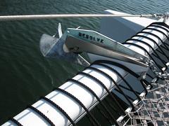 Catamaran anchor: Resolve (jdmonin) Tags: water harbor boat anchor stern resolve