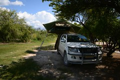 Namutoni Campsite (zenseas) Tags: africa camping vacation holiday fun justme toyota namibia campsite etosha hilux selfdrive rooftoptent etoshanationalpark selfdrivesafari namutonicampsite