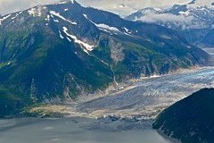 View of the glacier from the seaplane - Alaska