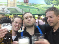Terje, me and Tor Erling at one of the many beer tents at the oktoberfest!