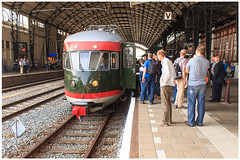 175 jaar spoor: historische treinen (H. Bos) Tags: haarlem amsterdam ns railway spoor mat46 historicaltrains muizeneus 175yearsrailway historischetreinen 175jaarspoor