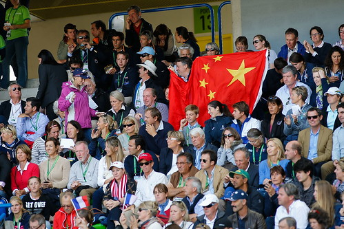 Supporting Alex Hua Tian, the only Asian eventer at the World Equestrian Games in Caen, France August 2014 Photo Xia Yuanpu
