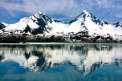 Kenai Fjords Reflection (Shaun McCullough) Tags: ocean travel mountains reflection nature alaska landscape bay scenery icebergs kenaifjords kenaifjordsnationalpark