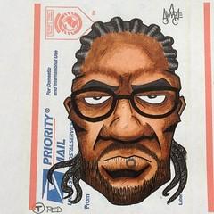 #synapse (synapse65) Tags: portrait streetart art illustration ink subway graffiti sticker stickerart artist stickers mbta usps redline copic micron synapse slaps label228 slapup