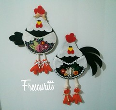 Porta recados (Frescuriti) Tags: galinha felt feltro portarecados