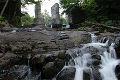 The Carbide Willson Ruins In Gatineau Park. (|SNAPShots| by: Patrick J.Whitfield) Tags: camera longexposure trees summer sky plants sun mist lake ontario canada mountains macro green slr nature wet water beautiful grass clouds creek canon river garden outdoors photography eos rebel landscapes waterfall moss spring woods backyard scenery rocks village mud quebec hiking path wildlife exploring ottawa peaceful lookout creepy hills adventure growth trail dew valley swamp views gatineau marsh benches forests mothernature breathtaking middleofnowhere upcloseandpersonal t3i greatescape onewithnature clearbluesky gettindirty iphone5 follow4follow like4like lazyshutter