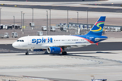 Spirit Airlines Airbus A319 N505NK-2113 (rob-the-org) Tags: iso100 noflash 300mm airbus cropped f11 terminal4 phx a319 phoenixaz spiritairlines kphx 1160sec skyharborinternational n505nk ef70300mmf456lisusm parkingp8