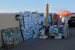 Selling paintings/souvenirs on the street (k_pitsillos) Tags: port souvenirs paintings selling heraklion
