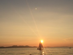 Sailing into the sunset (kzoop) Tags: travel sunset croatia zadar