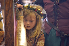 Learning to Play (MTSOfan) Tags: girl child renfaire harp wrightstownpa buckscountyrenaissancefaire