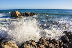 Leo Carrillo State Beach (Haxtorm) Tags: california sunset cliff usa beach losangeles state leo unitedstatesofamerica malibu westcoast carrillo leocarrillostatebeach