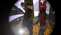 Dancing at Nonstop (Niki Wirefly) Tags: fae fairy male fairey landscape fantasy gay colour couple secondlife men people lufian wings niki love sl