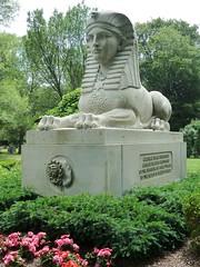 Cambridge, MA, Mount Auburn Cemetery, Sphinx Monument (Mary Warren (7.3+ Million Views)) Tags: cambridgema mountaubencemetery monument gravestone art sculpture sphinx